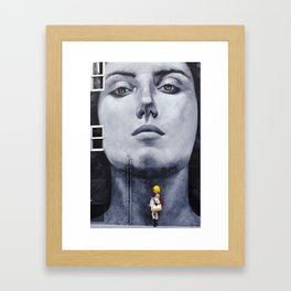 Lady with Yellow Hair Framed Art Print