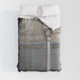 Marocco Columns Mosaic Duvet Cover