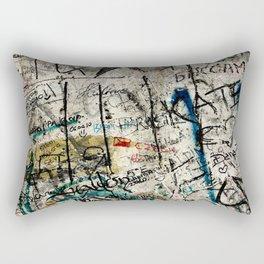 Berlin Wall Graffiti Rectangular Pillow