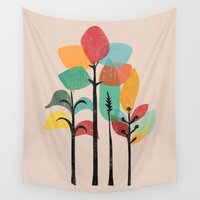 tropical Wall Tapestries featuring Tropical Groove by Picomodi