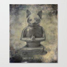 Zen mediation Cat Canvas Print