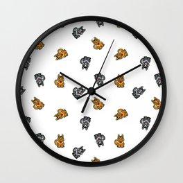 Yellow & Gray Dog Wall Clock