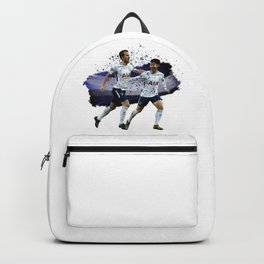 Watercolor Harry Kane and Son Heung Min Backpack