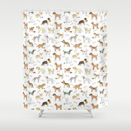 Breeds of Dog Shower Curtain