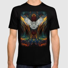 The Great Grey Owl 2X-LARGE Black Mens Fitted Tee