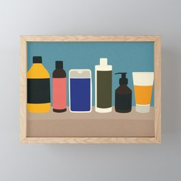 Plastic Bottles Framed Mini Art Print