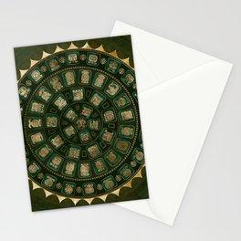 Maya Calendar Glyphs Gold and Malachite Stationery Cards