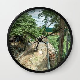 Outskirts of Phnom Penh, Cambodia Wall Clock