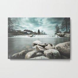 Waterfall on Sora river, Medvode Metal Print