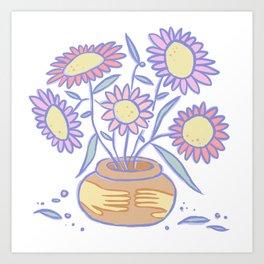 Outreach Flowerpot Art Print