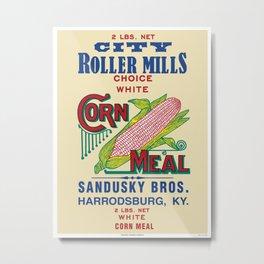 City Roller Mills - Sandusky Bros. - Harrodsburg, Kentucky - 11111 Metal Print