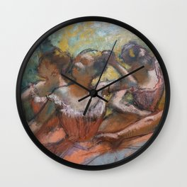 Four Ballet Dancers on Stage Wall Clock