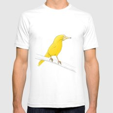 Canary Mens Fitted Tee SMALL White