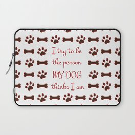 Dog Person Laptop Sleeve