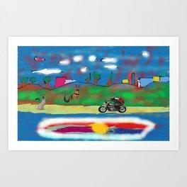 The motorized animals Art Print