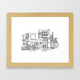 Black and White Home Framed Art Print