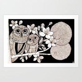 Elegant tree Art Print