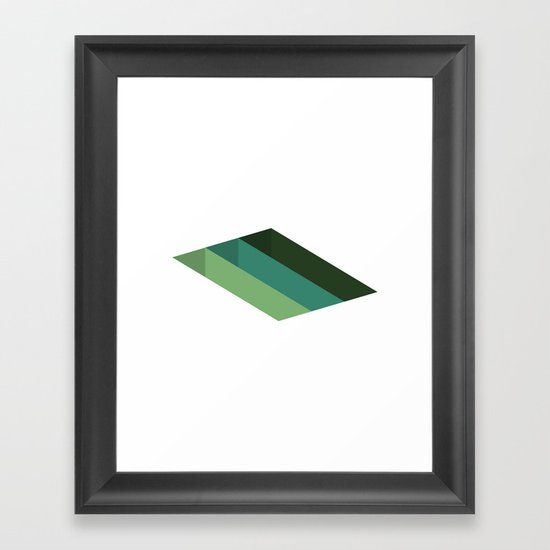 #125 Shafts – Geometry Daily Framed Art Print