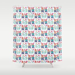 Gnome Love Pattern Shower Curtain