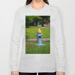 Fire Hydrant Gushing Water Long Sleeve T-shirt