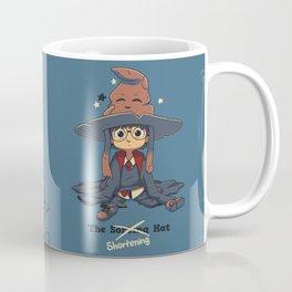 The Shortening Hat // Chibi Wizard, Fantasy, Magic Coffee Mug