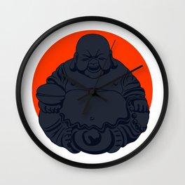 Dark Budai Wall Clock