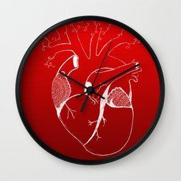 Realistic mandala heart Wall Clock