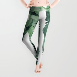 Banana Leaves Green Leggings