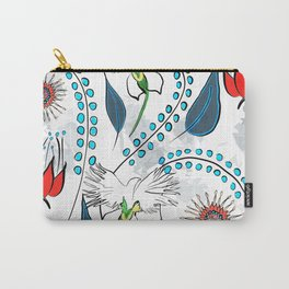 White Egret Orchid Carry-All Pouch