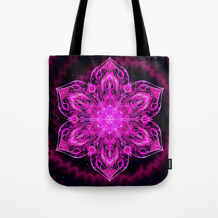 Starry Snow Spiral Tote Bag