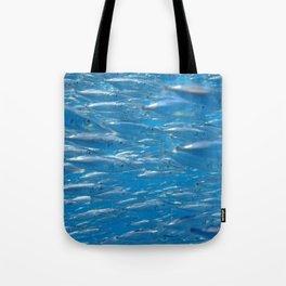 Fish shoal of common bellowsfish Tote Bag