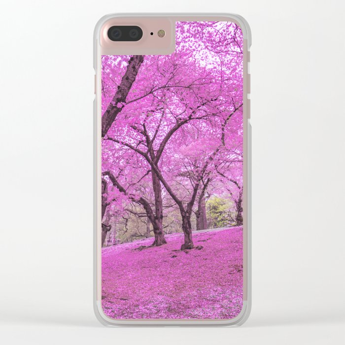 New York City Springtime Cherry Blossoms Clear iPhone Case