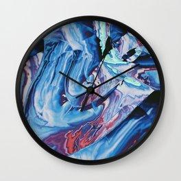 Metallic Thunderbolts Wall Clock