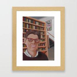 Main Street Books Framed Art Print