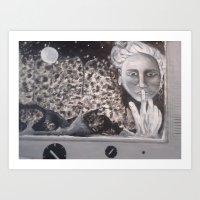 Moon Lady Art Print