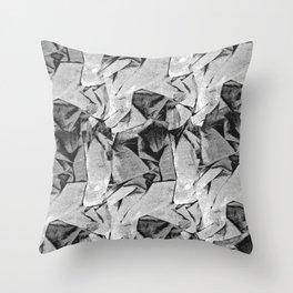 Scrunchy Paper Fabric Texture Throw Pillow
