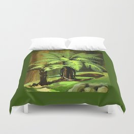 Tree Ferns Darwin Duvet Cover