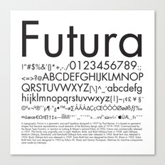 Futura (Black) Canvas Print