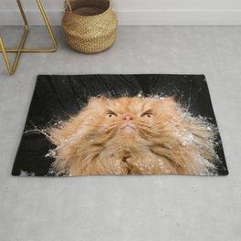 Persian cat in snow Rug