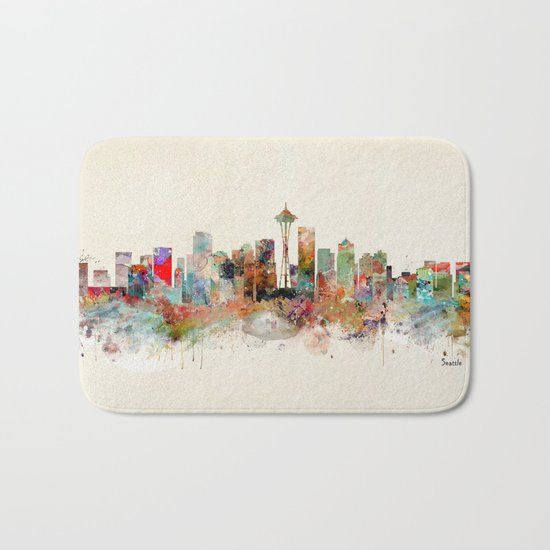 seattle washington Bath Mat