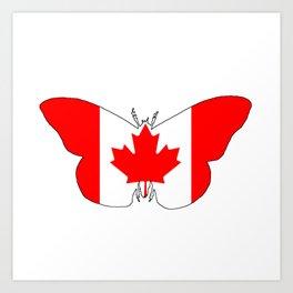 Canada Butterfly Art Print