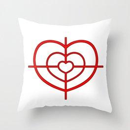 Heartscope Throw Pillow