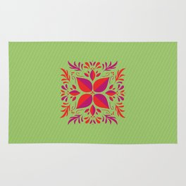Beautiful illustration of a square with 3 colors Rug