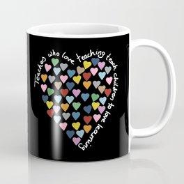Hearts Heart Teacher Black Coffee Mug