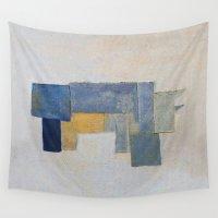 rustic Wall Tapestries featuring Rustic Rhino by Fernando Vieira