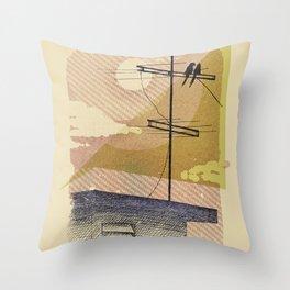 Romantic birds Throw Pillow