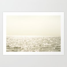 Sea and Sky Ombre Art Print