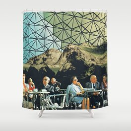 When we are older, vintage collage Shower Curtain