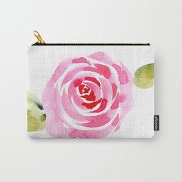 Single Rose, Watercolor Carry-All Pouch