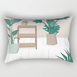 A house with plants is a home Rectangular Pillow